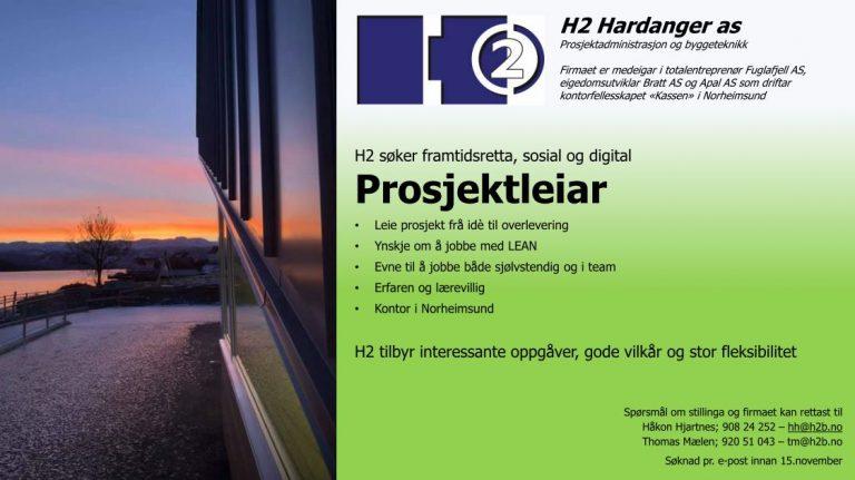 Er du vår nye prosjektleiar?